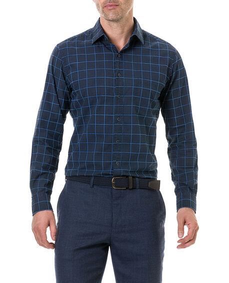 Hindley Creek Sports Fit Shirt, NAVY, hi-res