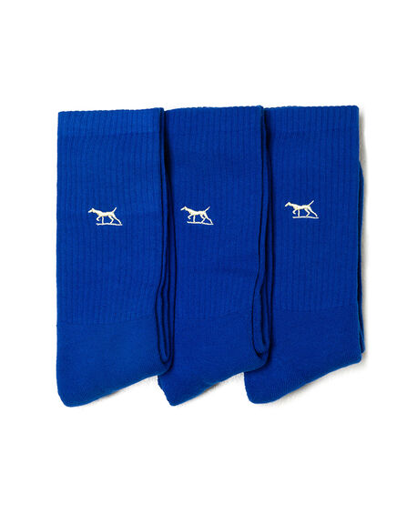 Gunner Three Pack Sock, COBALT, hi-res