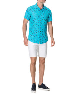 Arrow River Sports Fit Shirt/Cyan XS, CYAN, hi-res
