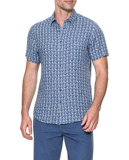 Saddle Hill Sports Fit Shirt/Denim XS, DENIM, hi-res