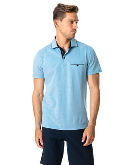 Sherwood Sports Fit Polo, CYAN, hi-res