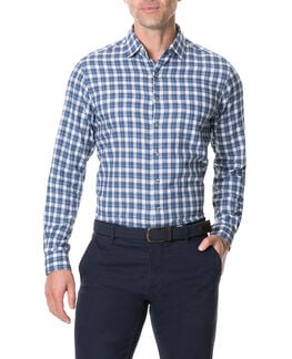Monaghan Sports Fit Shirt/Indigo XS, INDIGO, hi-res