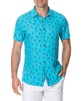 Arrow River Sports Fit Shirt/Cyan XS, CYAN, hi-res