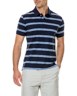 Pacific Bay Sports Fit Polo, MARINE, hi-res