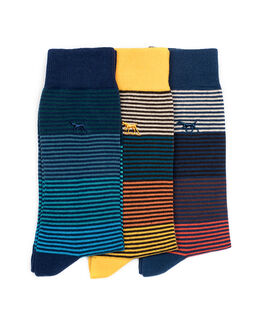 Harrington Road Three Pack Sock, ASSORTED, hi-res