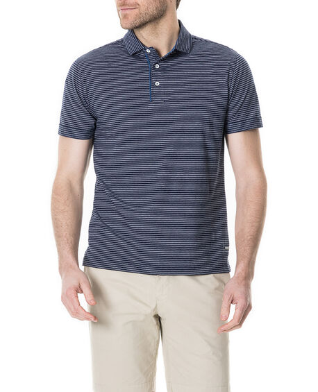 Roving Beach Sports Fit Polo, PEACOAT, hi-res