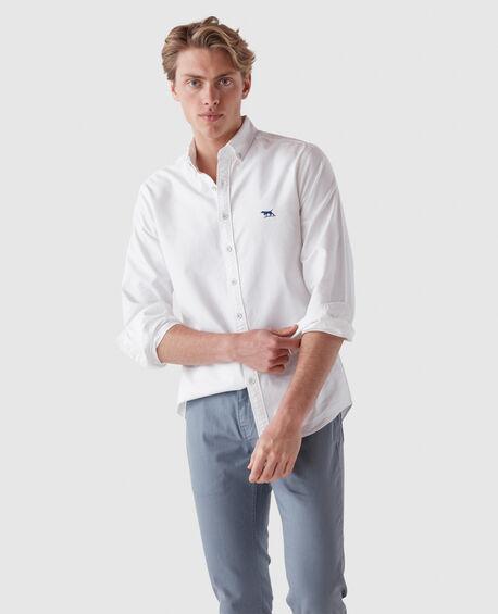 Gunn Oxford Sports Fit Shirt, SNOW, hi-res