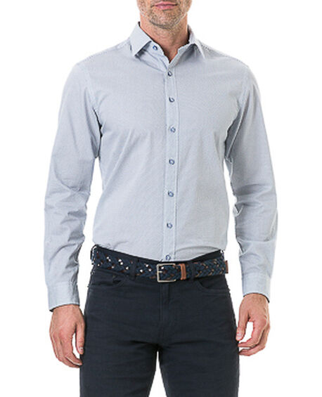 Helston Way Sports Fit Shirt, SNOW, hi-res