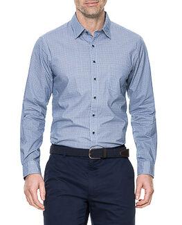 Argyle Shirt, RIVER, hi-res