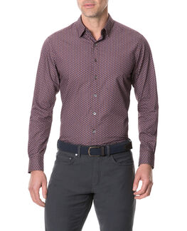 Torrance Street Sports Fit Shirt, MULBERRY, hi-res