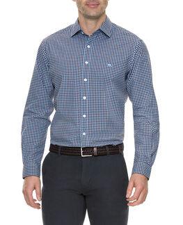 Balmedie Ridge Shirt, CORNFLOWER, hi-res