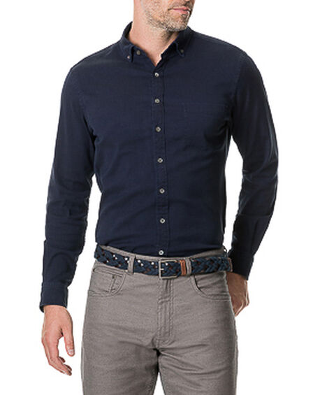Limbrick Sports Fit Shirt, INDIGO, hi-res
