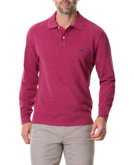 Long Sleeve Gunn Polo, WILDROSE, hi-res