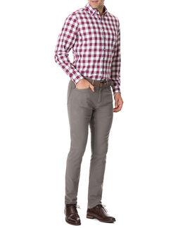 Flints Bush Shirt/Claret XS, CLARET, hi-res
