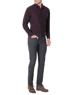 Menzies Sports Fit Shirt/Mulberry XS, MULBERRY, hi-res
