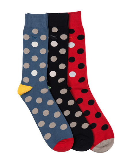 Mount Stokes Three Pack Sock, ASSORTED, hi-res