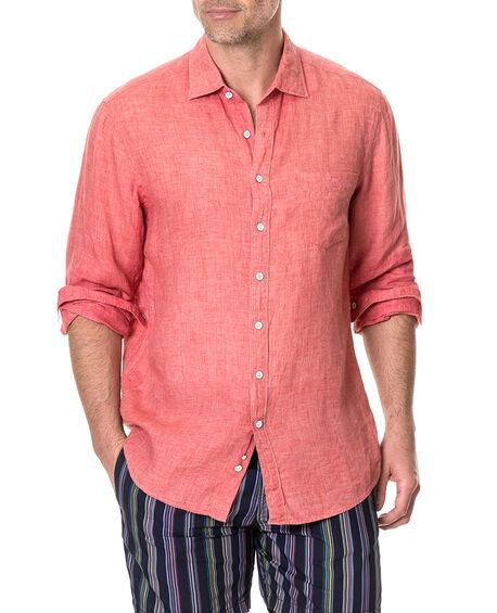 Selwyn Huts Shirt, WATERMELON, hi-res