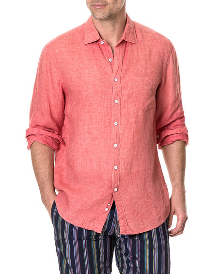 Selwyn Huts Shirt, WATERMELON, hi-res