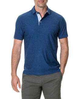 Gainford Sports Fit Polo, DENIM, hi-res