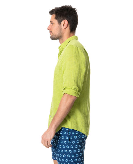 Coromandel Sports Fit Shirt, LIME, hi-res