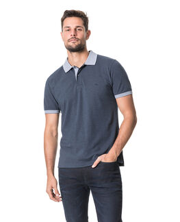 New Haven Sports Fit Polo, NAVY, hi-res