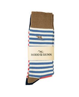 Slipper Island Three Pack Sock/Assorted 0, ASSORTED, hi-res
