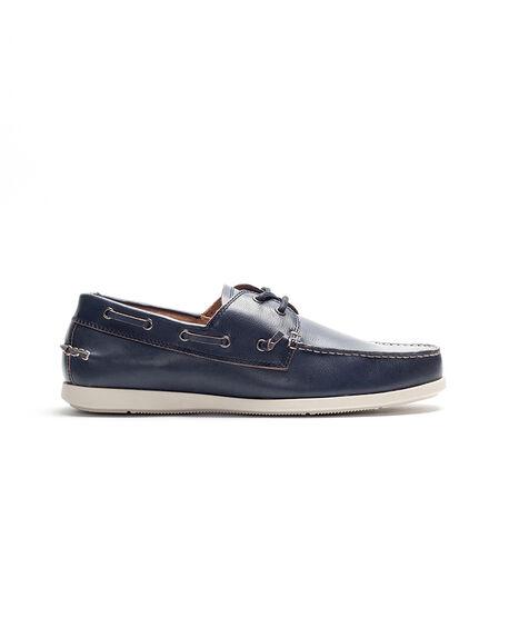 Gordons Bay Boat Shoe, NAVY, hi-res