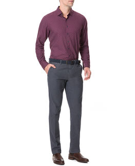 Meadowood Sports Fit Shirt, PLUM, hi-res