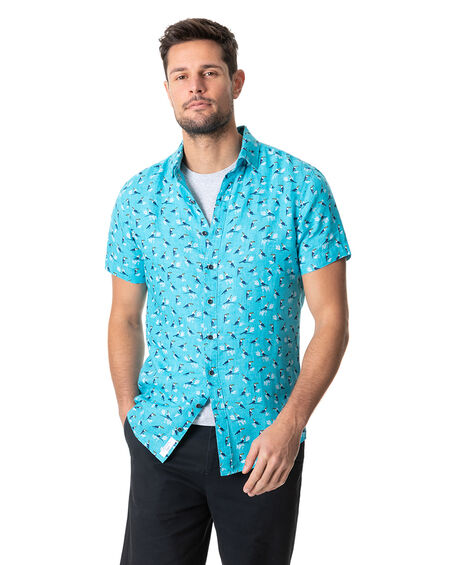 Anatori Sports Fit Shirt, CYAN, hi-res