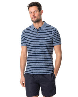 Huntly West Sports Fit Polo, BLUESTONE, hi-res