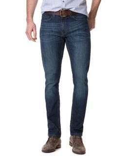 Calvert Slim Fit Jean, MID BLUE, hi-res