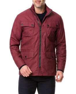 Leithfield 4 Oz Staywax Jacket, BURGUNDY, hi-res