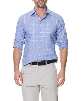 Tussock Creek Sports Fit Shirt/Azure XS, AZURE, hi-res