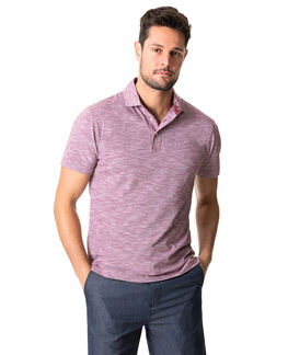 Ascot Park Sports Fit Polo, BURGUNDY, hi-res