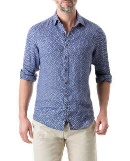 Lawrence Street Sports Fit Shirt/Denim XS, DENIM, hi-res