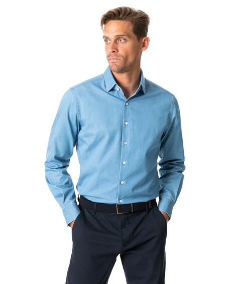Meadowpoint Sports Fit Shirt, DENIM, hi-res