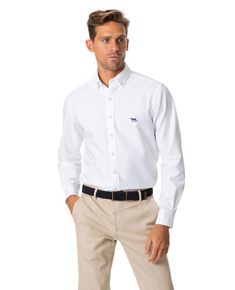 North Island Oxford Sports Fit Shirt, SNOW, hi-res