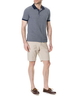 Menzies Bay Sports Fit Polo, OCEAN, hi-res