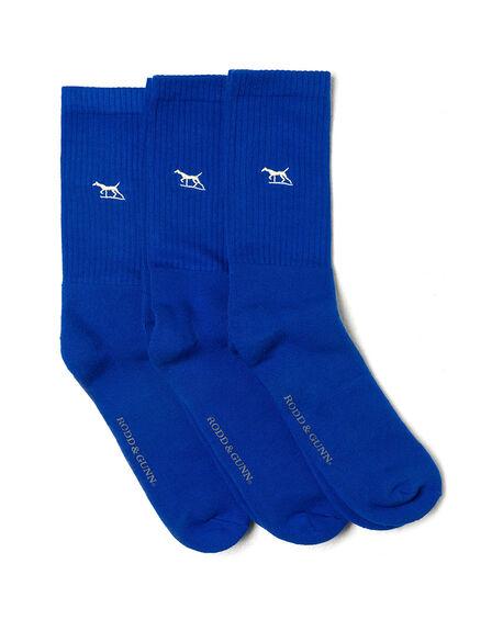 Gunner Three Pack Sock, COBALT, hi-res