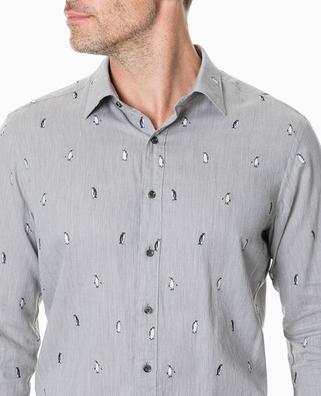Hillersden Sports Fit Shirt, PEBBLE, hi-res
