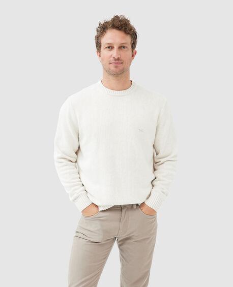 Gunn Crew Sweater, NATURAL, hi-res