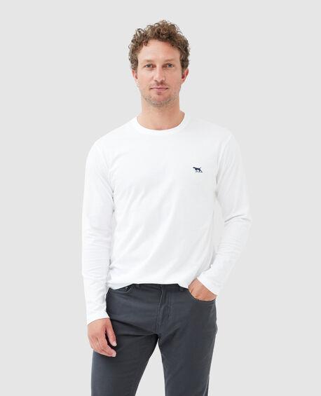 Ls Gunn T-Shirt , SNOW, hi-res