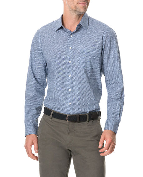 Knapdale Sports Fit Shirt, BLUEBELL, hi-res