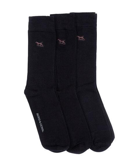 Dry Plains Three Pack Socks, MARINE, hi-res