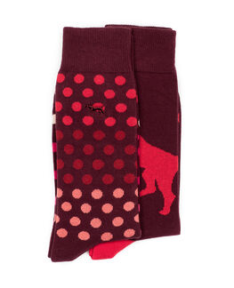 Findlay Road Two Pack Sock, MAROON, hi-res