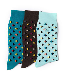 Goldleaf Hill Three Pack Sock/Sea 0, SEA, hi-res