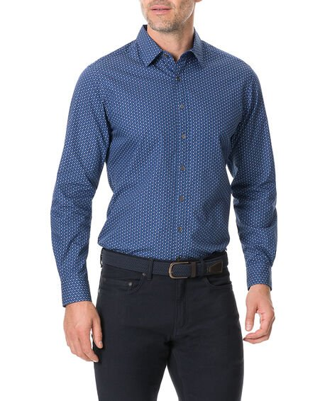 Torrance Street Sports Fit Shirt, MARINE, hi-res