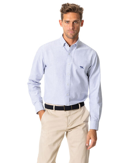 South Island Oxford Sports Fit Shirt, ROYAL, hi-res