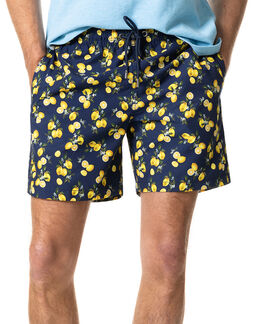 Honeymoon Bay Swim Short/Lemon XS, LEMON, hi-res