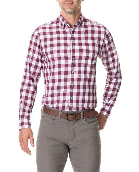 Flints Bush Sports Fit Shirt, CLARET, hi-res